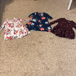Old Navy girl 2T floral long sleeve dresses